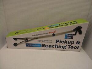 Pickup Reaching Tool Grip Lift 3 Feet Arm Hand Extender Extendable Foldable Grab