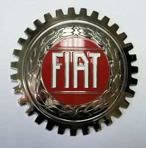 New Fiat Car Grille Badge- Chromed Brass- Great Gift Item!