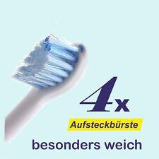 4 x Aufsteckbürsten für Philips Sonicare HX6084 Mini Sensitive Ersatzbürsten