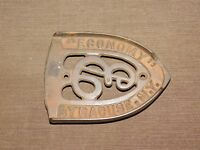 VINTAGE ANTIQUE KITCHEN ECONOMY SYRACUSE NY CAST IRON TRIVET SAD IRON REST