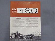 original 1963 Oliver 480 Manure Spreader sales Brochure Catalog Tractor