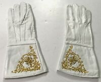 CIVIL WAR US UNION EMBROIDERED LEATHER GAUNTLETS GLOVES-MEDIUM