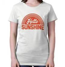 Hello Sunshine Lifestyle Graphic Novelty Gift Womens Tees Shirts Ladies Tshirts