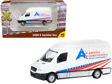 "1990 Mercedes Benz Sprinter Van White ""Air America Air Conditioning Heating & Re"