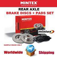 MINTEX Rear BRAKE DISCS + PADS for RENAULT TALISMAN Grandtour 1.8 TCe 225 2018->