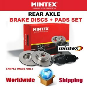 MINTEX Rear BRAKE DISCS + PADS SET for MERCEDES BENZ CLS 63 AMG 2011-2017
