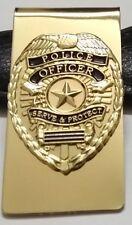 Police Officer Mini Badge Metal Money Clip Card Holder Thin Blue Line Blue Lives