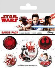 Star Wars Episode VIII pack 5 badges Resist badge pack Disney 806112