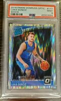 2018-19 Donruss Optic Luka Doncic RC Rookie Shock Prizm Dallas Mavs PSA 9📈