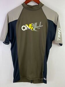 ONEILL Size L Mens Blue Short Sleeves Athletic Jersey Shirts Pullover Crew Neck