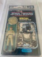 Vintage Star Wars 1985 AT-ST DRIVER POTF BACK CARD MOC. AFA Graded 80/85/85