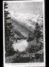 CHAMONIX MONT BLANC (74) Carte postale effet Aluminium argentée , vers 1920-1930