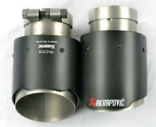 2x Universal AKRAPOVIC style Exhaust Tips New style Carbon Fiber stainless steel