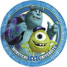 Monsters University 23cm Paper Plate 8pk - Disney Pixar Birthday Party Tableware