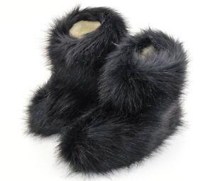 Hüttenschuhe Hausschuhe Yeti Fell Lammfell 100% Schafwolle Pantoffeln Gr.36-48