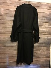 Burberry Black Lined Trench Coat Men's Size 42 R (no Wool Liner, Coat Only)