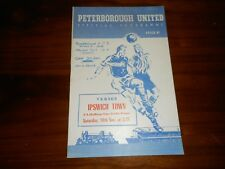 PETERBOROUGH UNITED  v  IPSWICH TOWN   1955/6 F A CUP 1st ~ NOVEMBER 19th