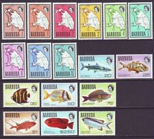 Barbuda 1968 SC 12-28 MH Set Fish Map