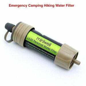 Life Survival Portable Personal Water Filter Camping Hiking Adventure Outdoor
