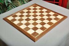 """Walnut & Maple Wooden Chess Board  - 2.5"""""""