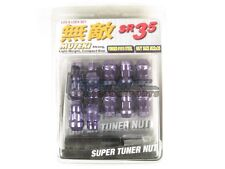 Muteki SR35 Extended Closed Ended Wheel Tuner Lug Nuts Chrome Purple 12x1.5mm