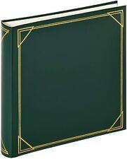 Album Fotografico Adesivo Grande, 100 Pagine, Copertina in pelle PVC Verde 30x30