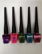 Italia Deluxe Glitter Eyeliner Set of 5 Colors Long Lasting blue purple pink