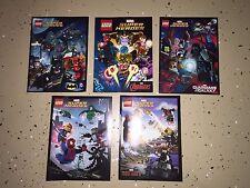 Lego Comic Book Lot 5 - Comics Marvel Super Heroes Batman Iron Captian America