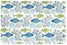 Memory Foam FISH shell Coral Bath Mat Beach Sea Bathroom Decor 20x30