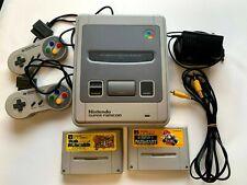 Super Famicom Nintendo controller *2 power cable Video cable & 2set Soft  JAPAN