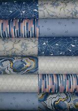 24 Eureka Blue Grey Ella Blue Patchwork Quilting fabric 5 inch squares #72a