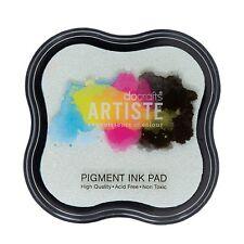 Pigment  Stempelkissen  Stempelfarbe Prägung durchsichtig f. Embossing Puder
