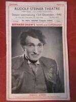 "Vintage Theatre Souvenir- George Bernard Shaw ""Man And Superman"" 1945"
