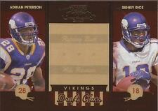 ADRIAN PETERSON & SIDNEY RICE 2007 Playoff Contenders Draft Class #/1000 Rookie