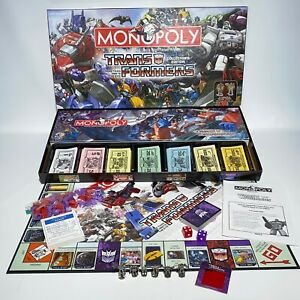 Monopoly Transformers Collectors Edition Board Game 100% Complete 2007 USAopoly