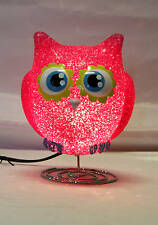 Childrens Bedroom Decor EVA Night Light Hot Pink Owl HS003