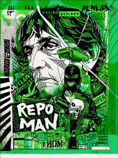 REPO MAN Mondo Poster Print TYLER STOUT GLOW VARIENT ##/220 MINT SOLD OUT !!