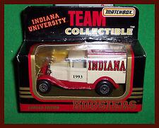 VINTAGE Indiana University Matchbox Car!! WOW