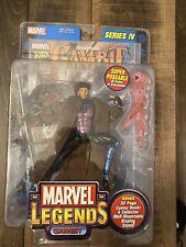 Marvel Legends X-Men Gambit Series 4 Toy Biz Action Figure w/ Comic Book New NIB