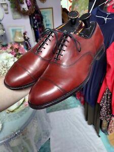 Allen Edmonds Park Avenue Burgundy Calf Leather Cap Toe Oxford Dress Shoes 13 E
