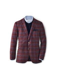 NWT Peter Millar Autumn Plaid Soft Jacket in Current XL MF20J02 $598