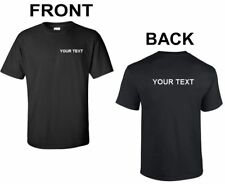 Custom Personalized T-Shirt Small Business Name Your Customized Text Shirt