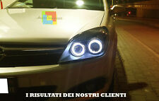 Fari anteriori Angel Eyes Opel Astra H 04-07 + KIT LED Abbagliante Anabbagliante