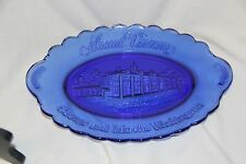 Mount Vernon George and Martha Washington colbalt blue collectible plate