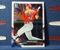 2018 Bowman Chrome #68 Harrison Bader RC Rookie St. Louis Cardinals