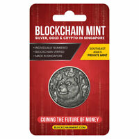 2021 Blockchain DogeCoin Cryptocurrency 1oz Silver Medal Antq Blister PRESALE