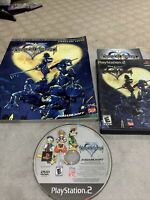 Kingdom Hearts PS2 BL (PlayStation 2, 2004) Complete With Strategy Guide