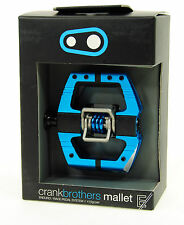 Crank Brothers Mallet E Enduro Clipless Bike Pedals & Cleats Black Blue Platform