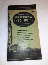 1947 THOMAS BROS.SAN FRANCISCO INFO GUIDE WITH FOLDOUT MAP