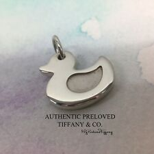 RARE Authentic Tiffany & Co. Lucky Duck Duckling Silver Charm